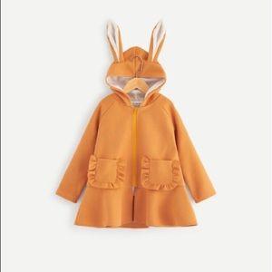 Shein Girls Peplum Coat Rabbit Bunny Ears Sz 12/14